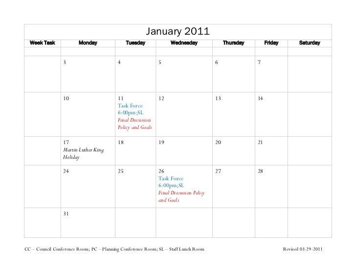 Weekly Calendar Update : Smp update calendar