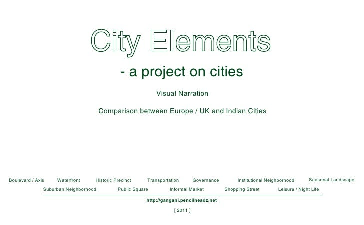 - a project on cities                                                             Visual Narration                        ...
