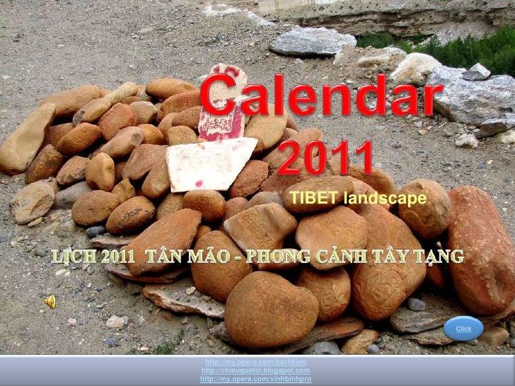 Lunar Calendar 2011                           TIBET landscape                                             Click    http://...