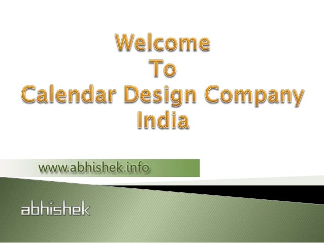 Calendar Design Services : Calendar design services in india