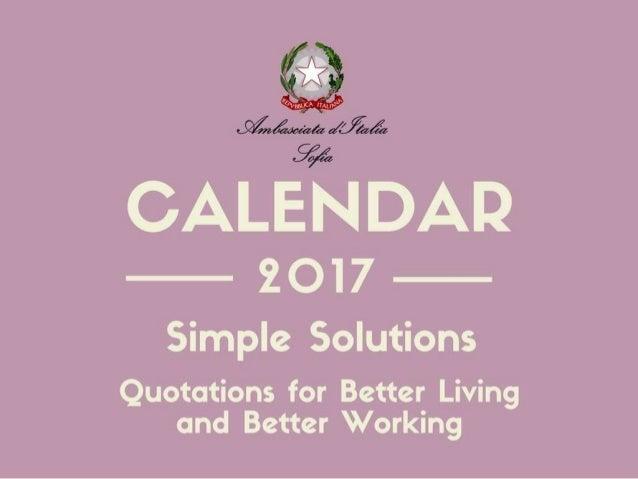 Simple Solutions (Diplo Calendar 2017)
