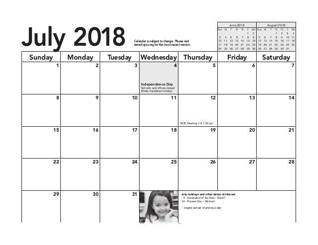 HCPSS Calendar2018-19