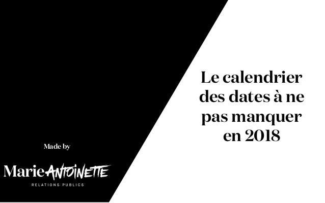 Calendrier marketing 2018 : la liste des événements de l'année
