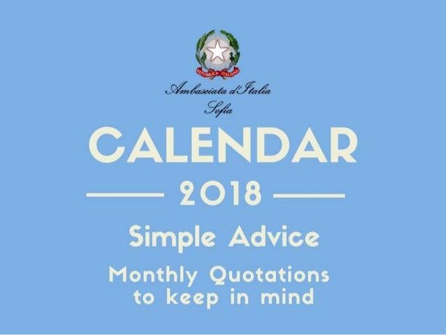 Simple advice (Diplo calendar 2018)