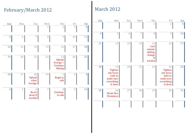 February/March 2012                                   March 2012                                                       Sun...