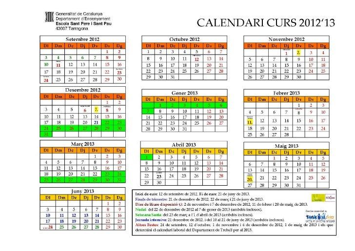 Calendari'12'13