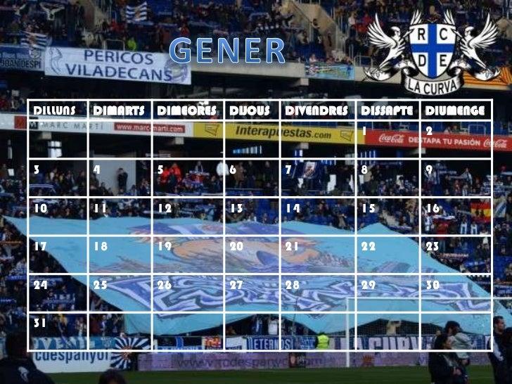Calendari la curva Slide 2