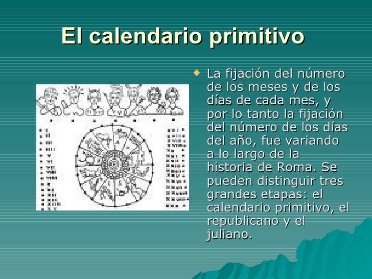 Calendario Romano.Calendario Romano