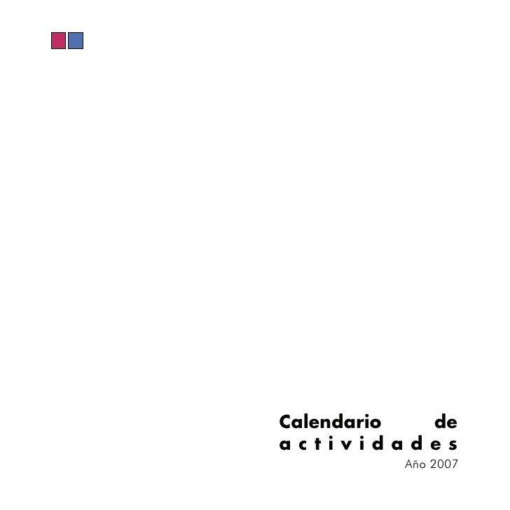 Calendario de actividades          Año 2007