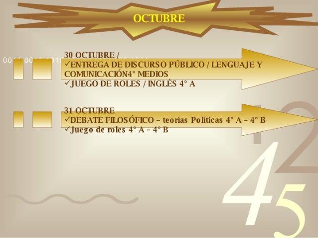 Calendario 4° Medios Slide 3