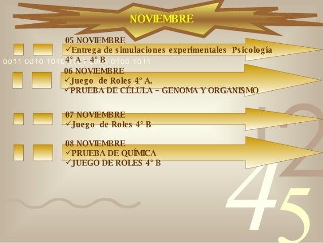 Calendario 4° Medios