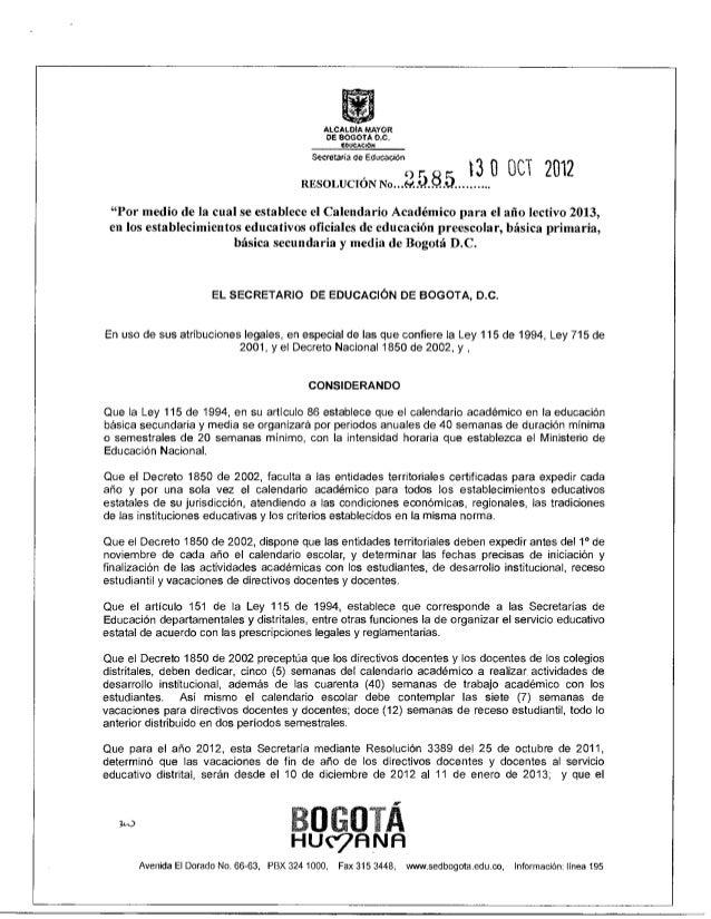Calendario academico-2013-resolucion-2585