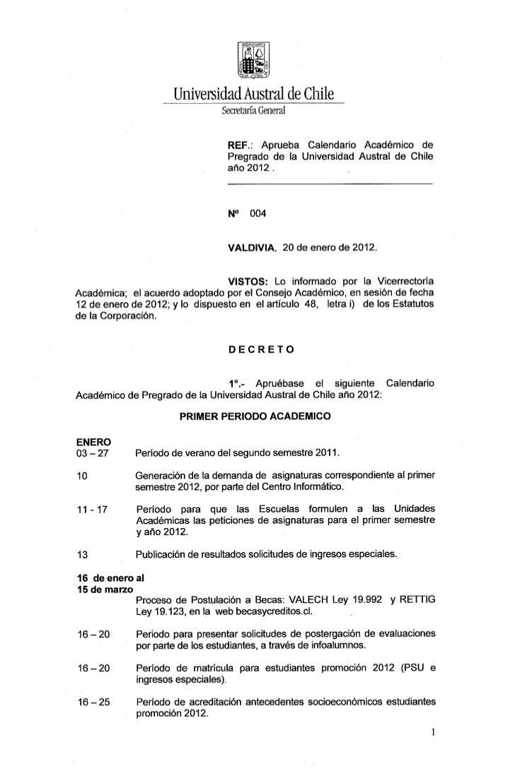 Calendario academico-pregrado-2012