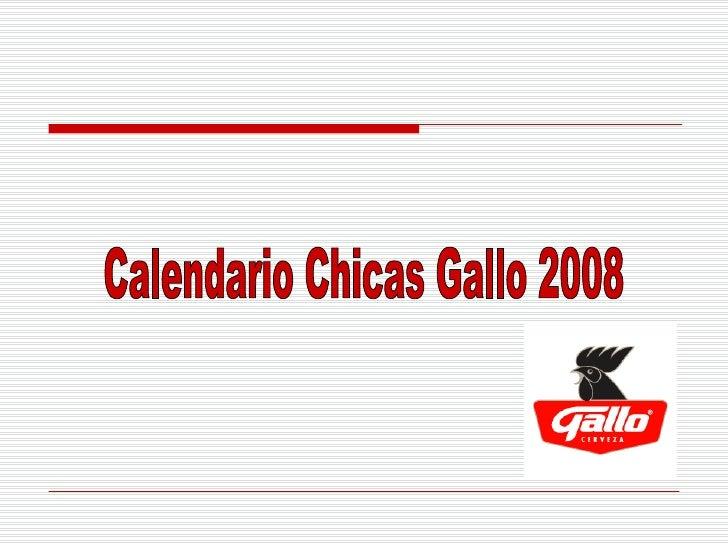 Calendario Chicas Gallo 2008