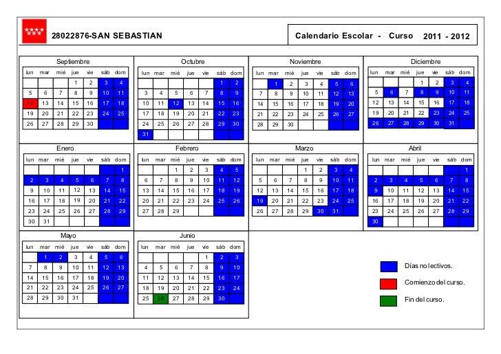 28022876-SAN SEBASTIAN                                                                 Calendario Escolar - Curso         ...