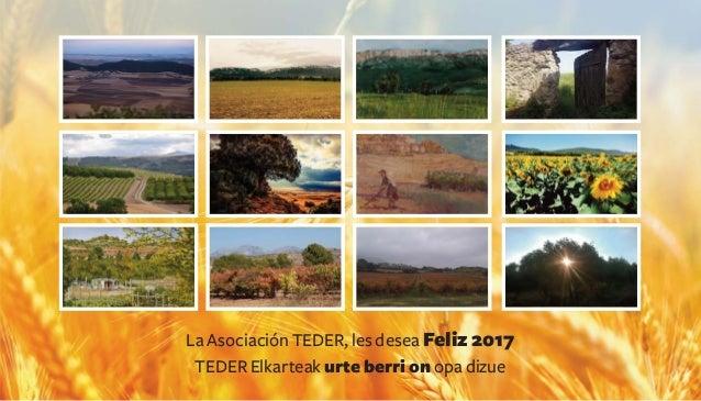 La Asociación TEDER, les desea Feliz 2017 TEDER Elkarteak urte berri on opa dizue