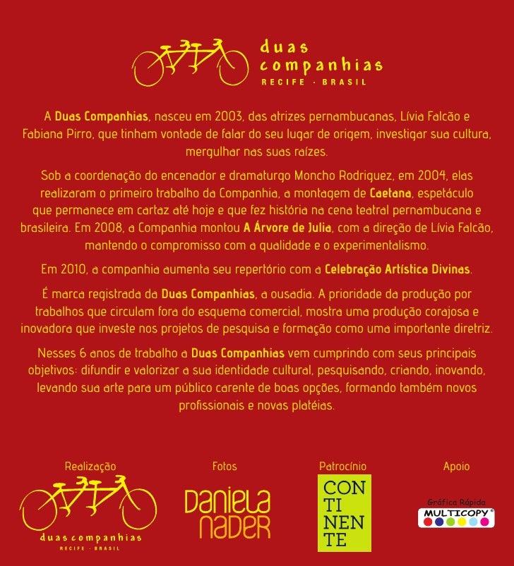 Calendario 2010/2011 Duas Companhias