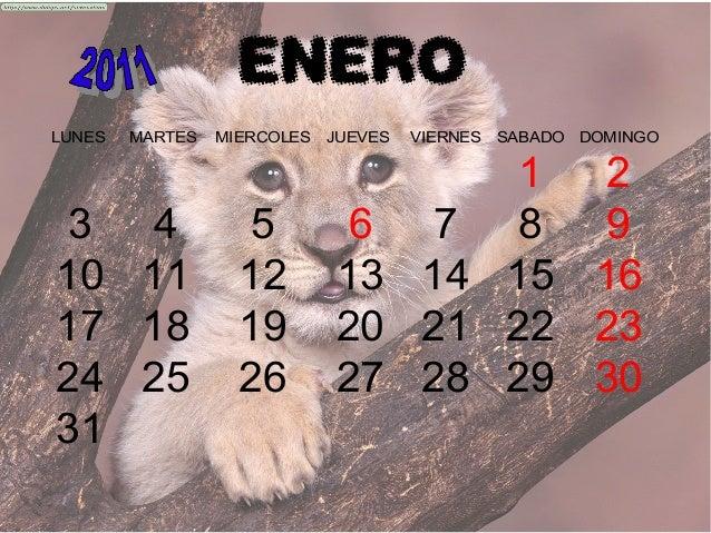 ENERO LUNES MARTES MIERCOLES JUEVES VIERNES SABADO DOMINGO 1 2 3 4 5 6 7 8 9 10 11 12 13 14 15 16 17 18 19 20 21 22 23 24 ...