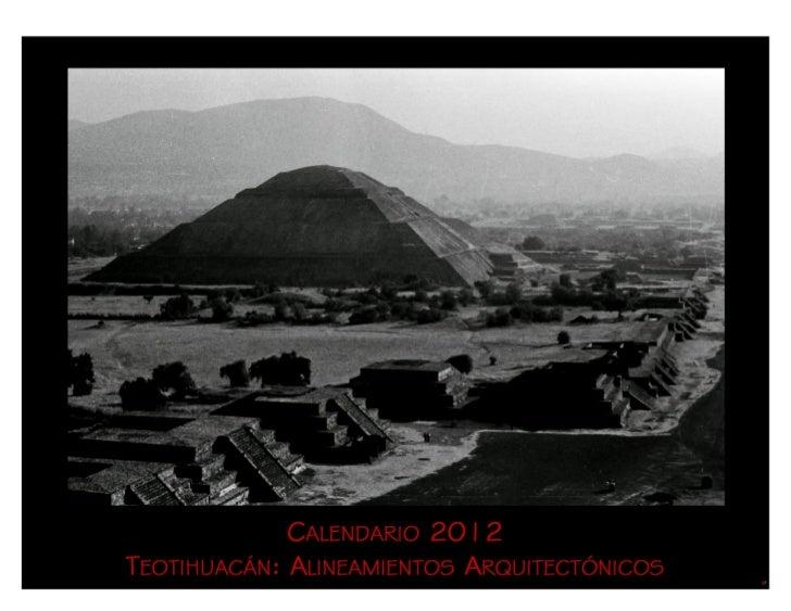 CALENDARIO 2012                                                   TEOTIHUACÁN                                             ...