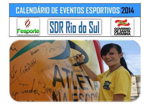 CALENDÁRIO DE EVENTOS ESPORTIVOS 2014