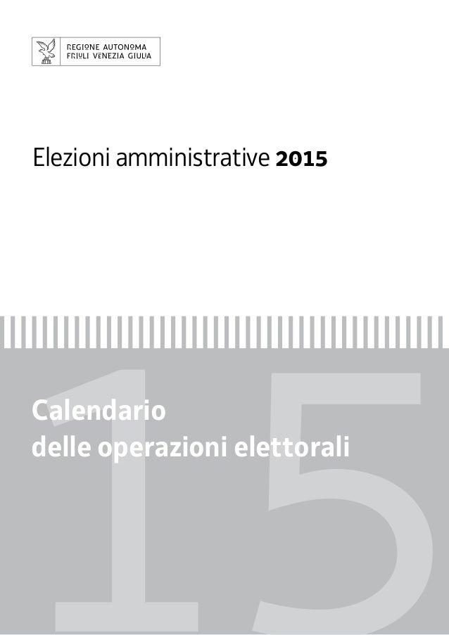 Calendario Elezioni.Calendario Delle Operazioni Elettorali Elezioni