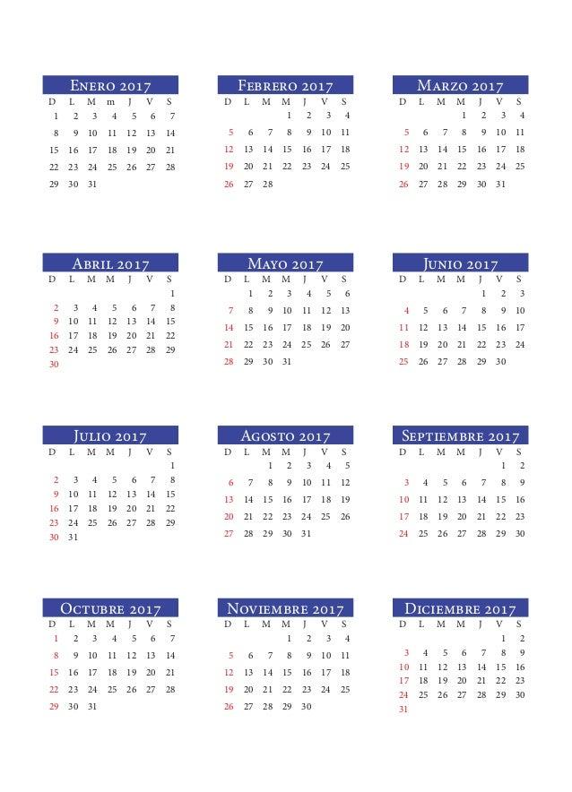 Enero 2017D L M m J V S1 2 3 4 5 6 78 9 10 11 12 13 1415 16 17 18 19 ...