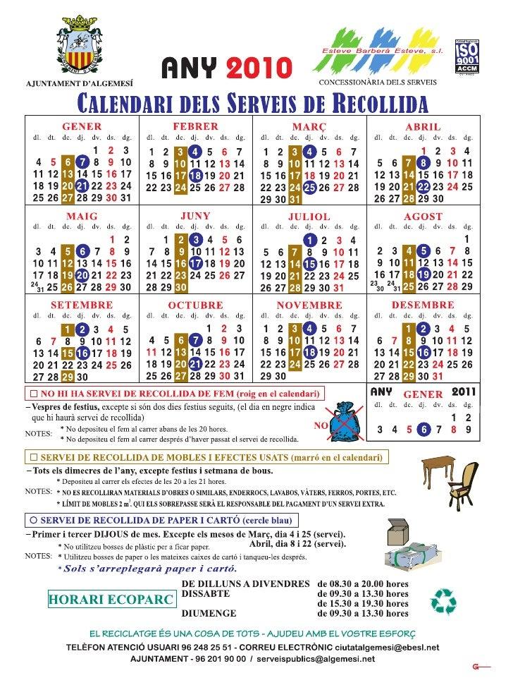 calendario 20 recogida 20 residuos 20 algemesi 20 a c3