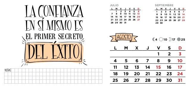 Calendario Con Frases De Motivación 2014