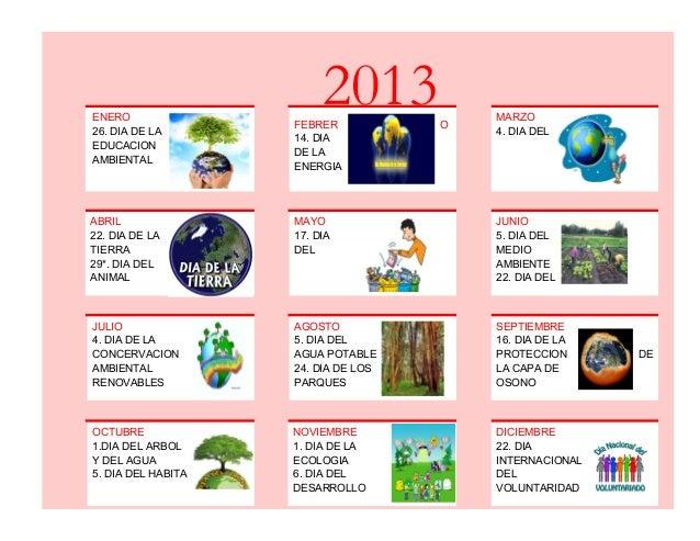 Calendario anual 2013 for Dia del arbol 01 de septiembre