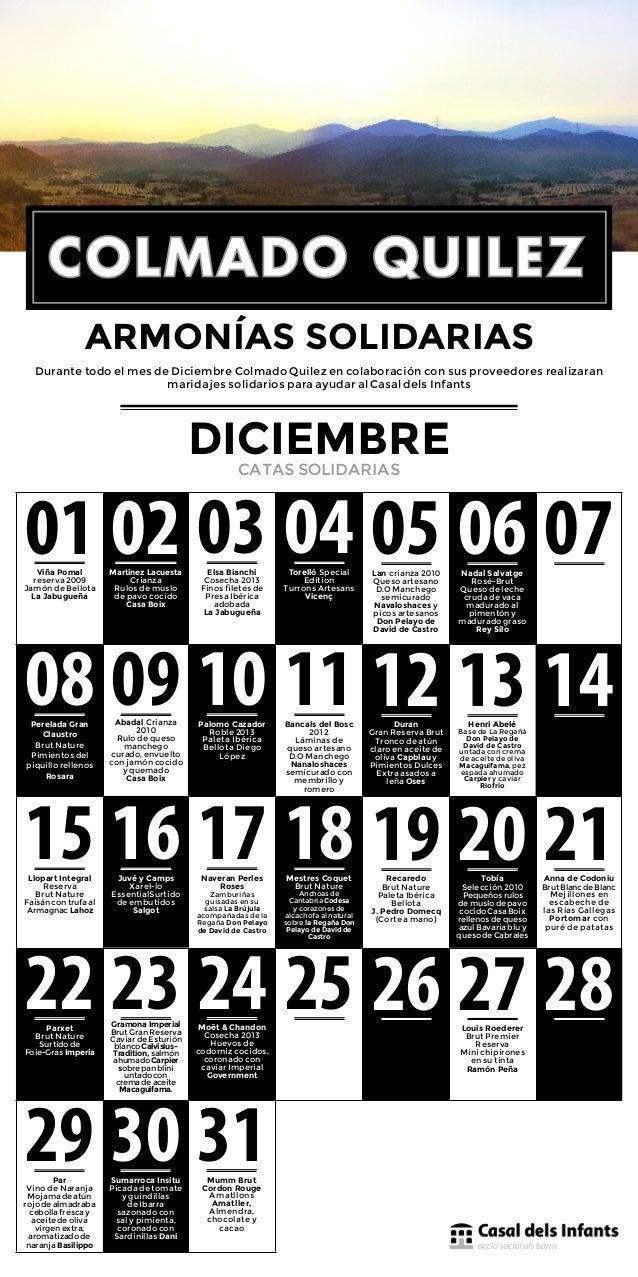 ARMONÍAS SOLIDARIAS  Durante todo el mes de Diciembre Colmado Quilez en colaboración con sus proveedores realizaran  01 Vi...