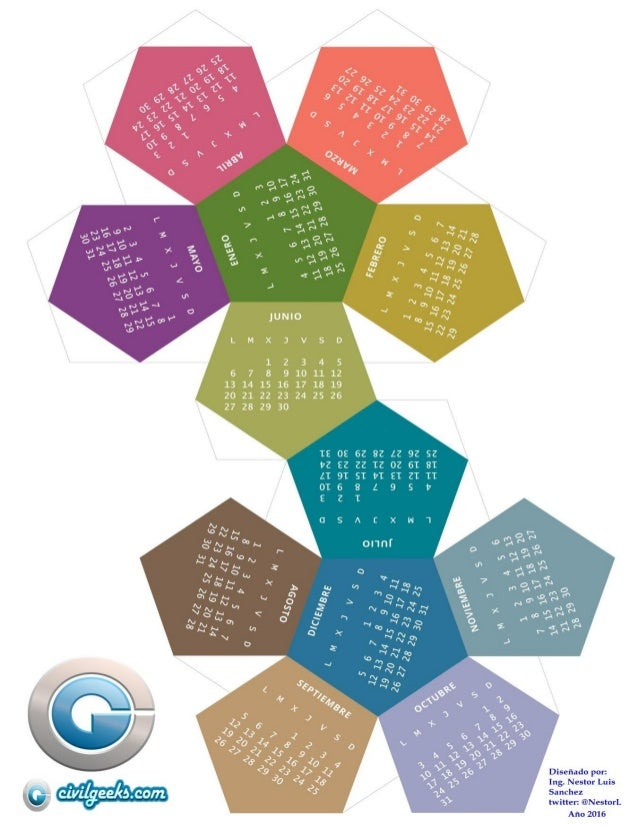 Calendario @civil geeks 3d 2016  (pdf para imprimir) desgarlo ya!!!