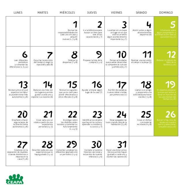 Calendario competencias b sicas 2015 - Como ponerse en forma en un mes ...