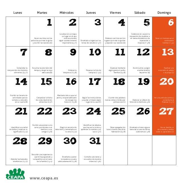 Lunes  Martes  Miércoles  1  2  Hacer una lista con las películas que más le gusta y escribir las razones (6)  Localizar e...