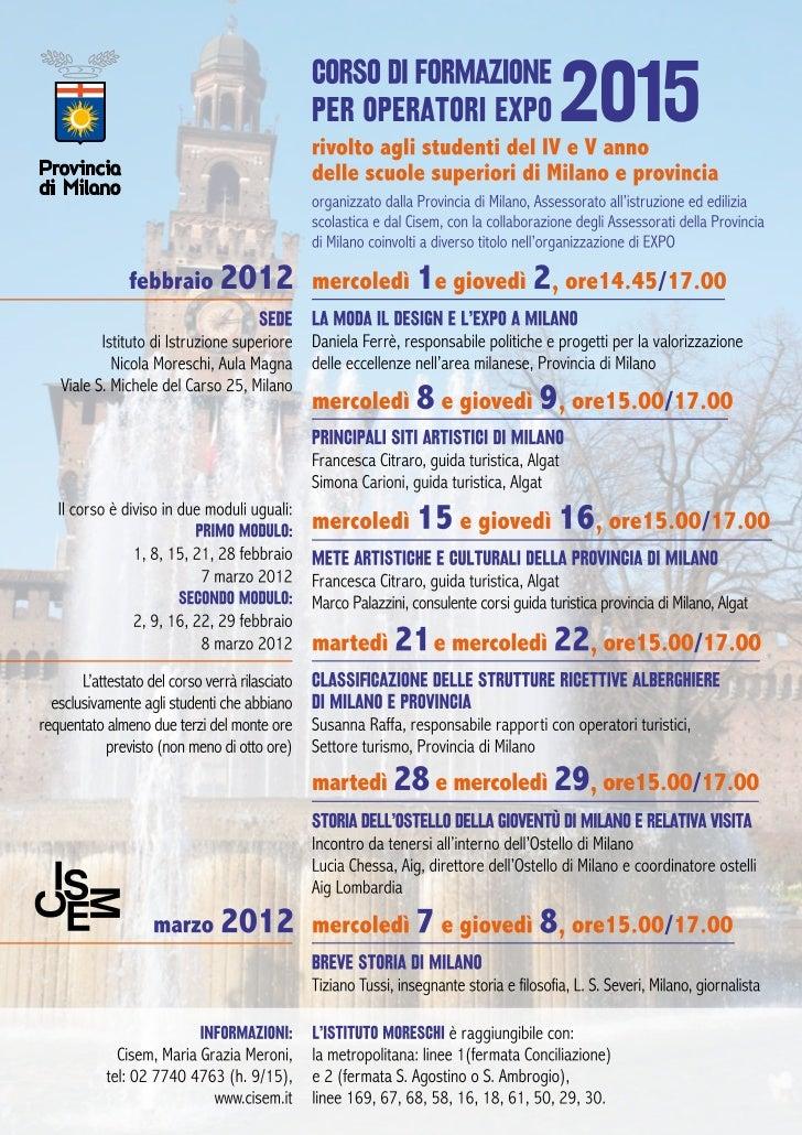 Calendario corso expo 2015