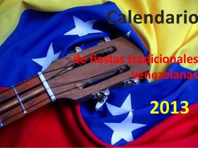 de fiestas tradicionales            venezolanas