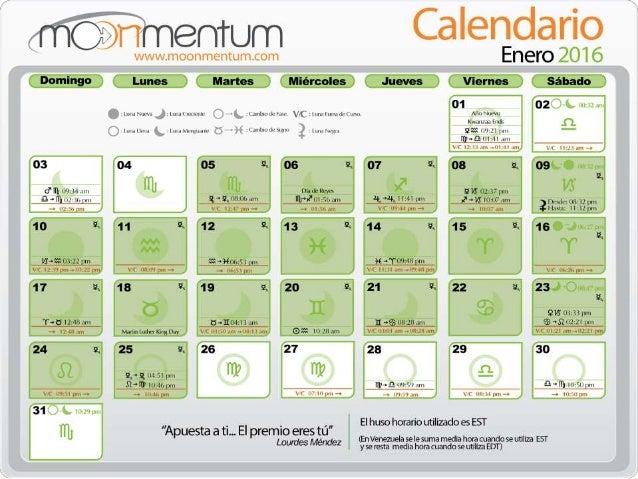 Luna Llena Calendario.Calendario Enero 2016