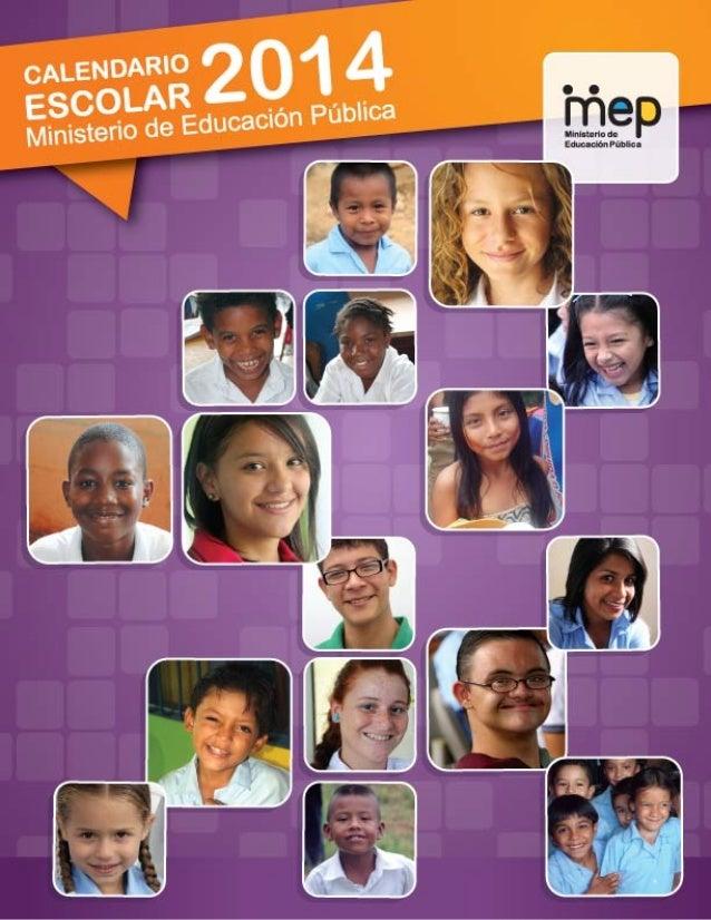 Calendario Escolar MEP 2014.