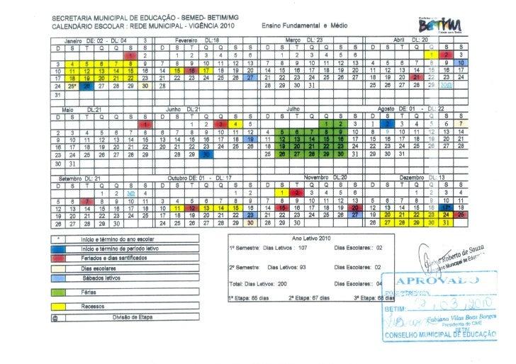Calendario escolar 2010