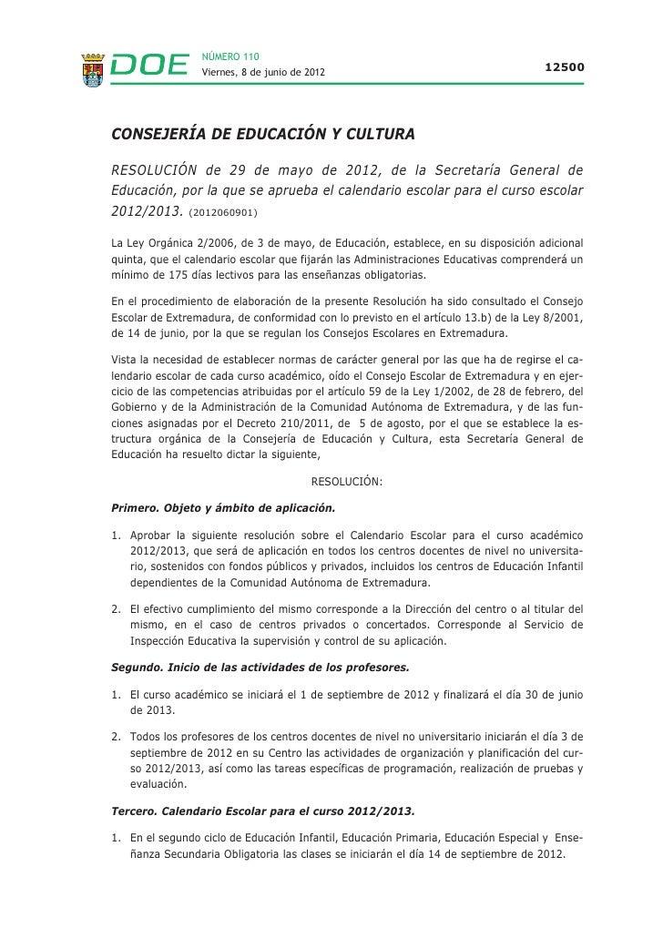 NÚMERO 110                  Viernes, 8 de junio de 2012                                          12500CONSEJERÍA DE EDUCAC...
