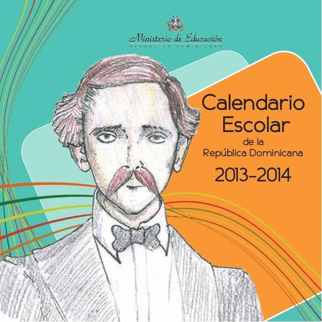 Calendario Escolar de la República Dominicana  2013-2014