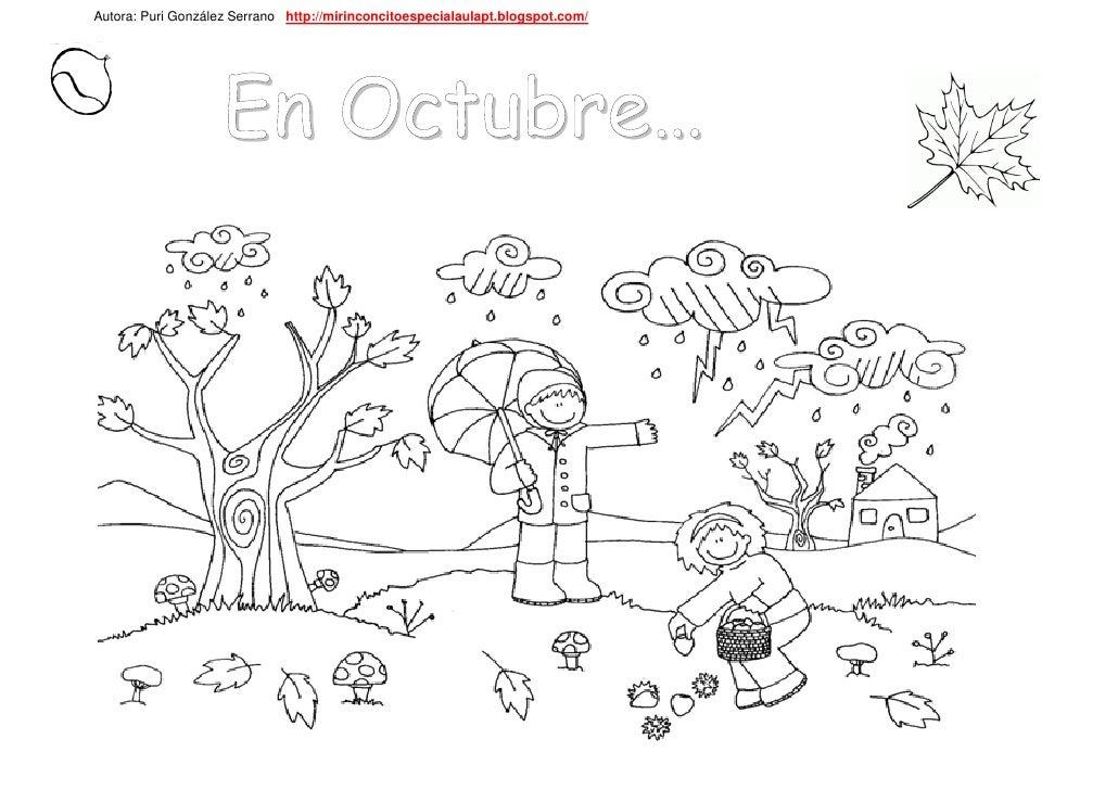 Imagenes De Portadas De Octubre Para Colorear La Idea De