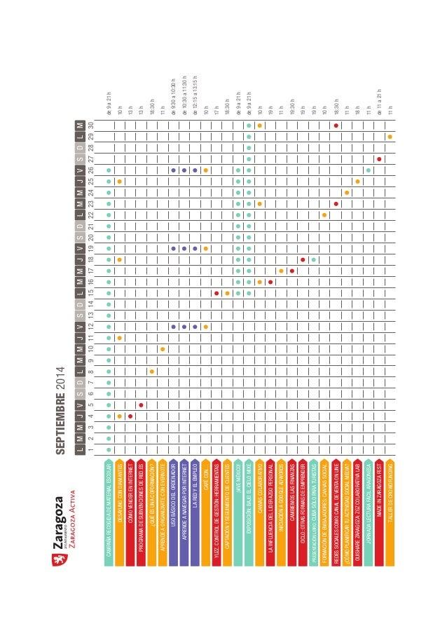 Calendario de eventos de Zaragoza Activa (sep/oct-2014) Slide 2