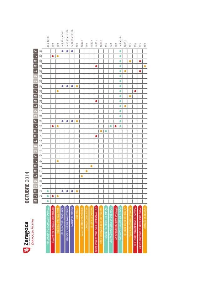 Calendario de eventos de Zaragoza Activa (sep/oct-2014) Slide 3