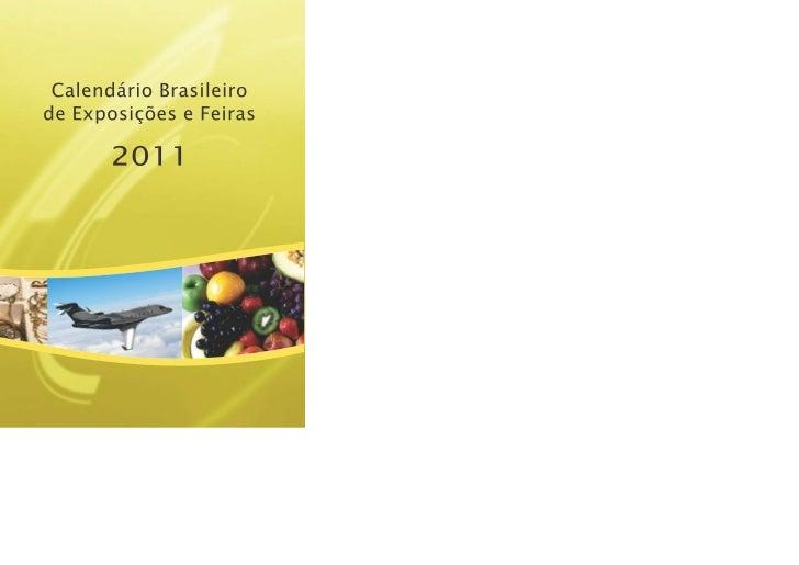 CALENDÁRIOBRASILEIRO DE EXPOSIÇÕES  E FEIRAS    2011