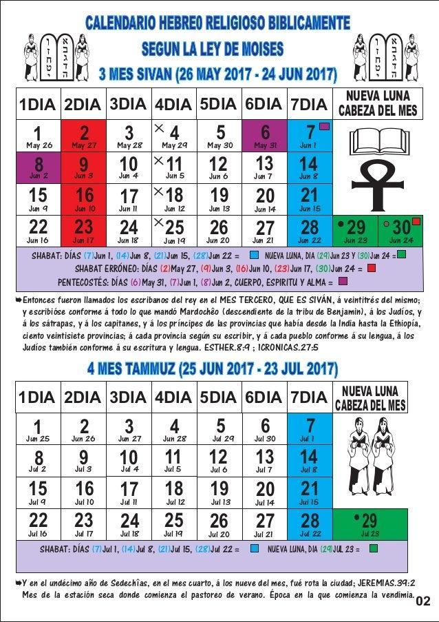 Calendario Hebreo 2019