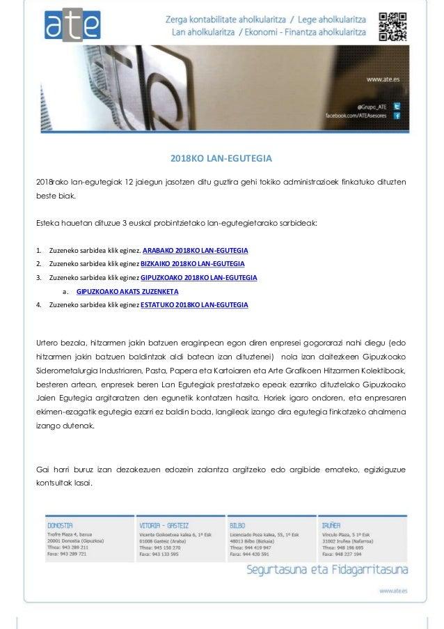 Calendario Laboral Gipuzkoa 2019.Calendario Laboral De 2019