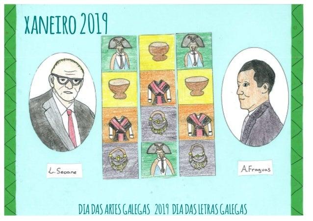 Almanaque 2019: Antón Fraguas & Luis Seoane Slide 2