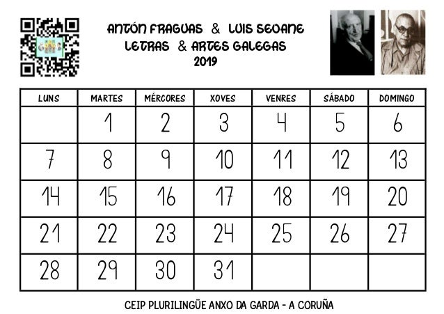 Almanaque 2019: Antón Fraguas & Luis Seoane Slide 3