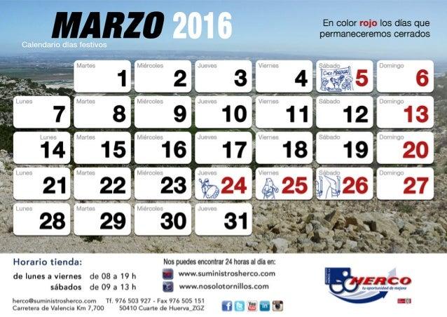 foto de Calendario marzo 2016