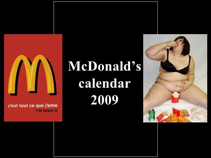 McDonald's calendar 2009
